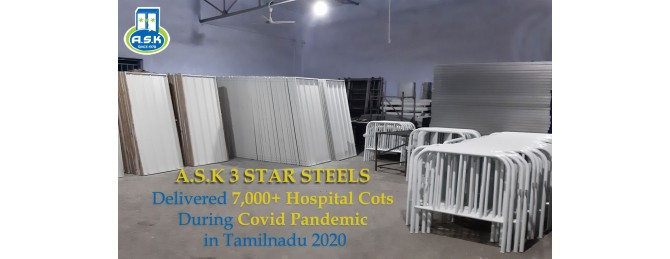 Delivered 7,000+ Hospital Cots during Covid Pandemic in Tamilnadu