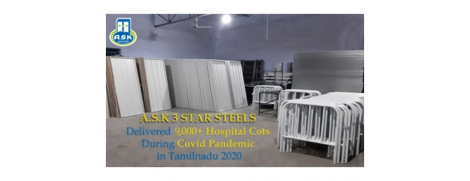 Delivered 9,000+ Hospital Cots during Covid Pandemic in Tamilnadu