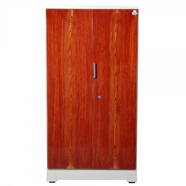"Akshaya 2 Door Steel Wardrobe 42"" Teakwood"