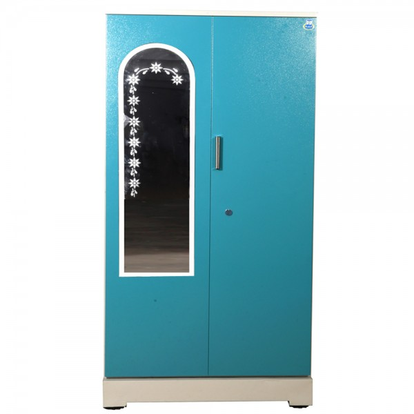"Akshaya 2 Door Steel Wardrobe 42"" Green with Mirror"