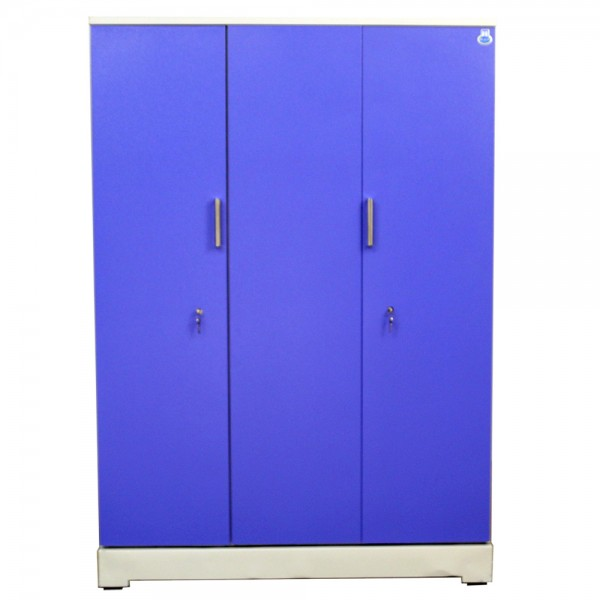 "Vajra 3 Door Steel Wardrobe 54"" Blue"
