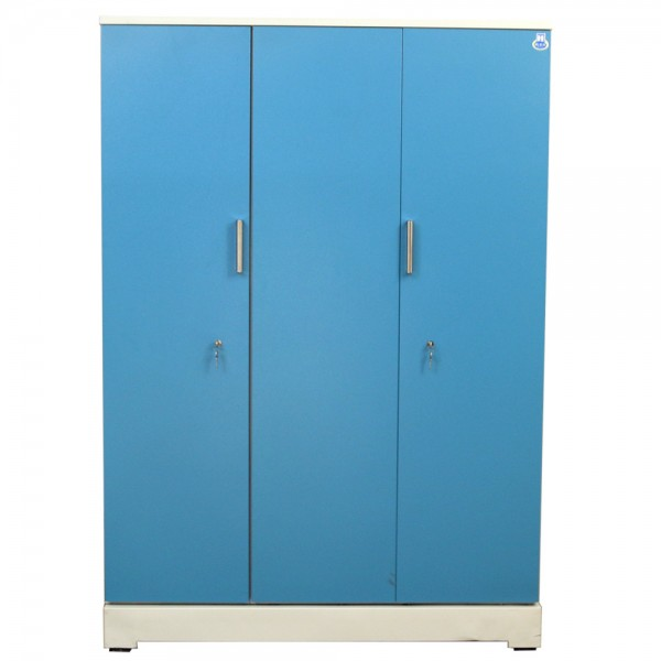 "Vajra 3 Door Steel Wardrobe 54"" Green"