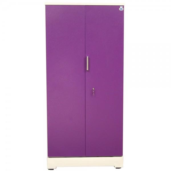 """Swarna 2 Door Steel Wardrobe 36"""" Purple"""