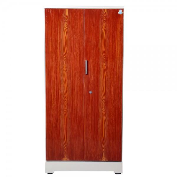 """Swarna 2 Door Steel Wardrobe 36"""" Teakwood"""