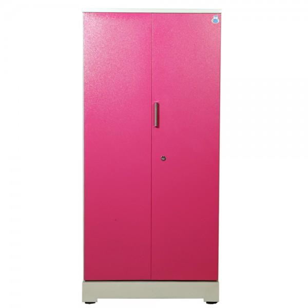 """Swarna 2 Door Steel Wardrobe 36""""  Pink"""