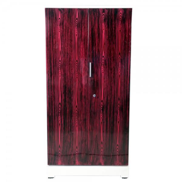 """Swarna 2 Door Steel Wardrobe 36""""  Rosewood"""