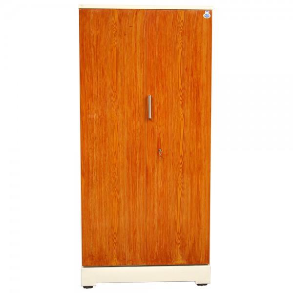 """Swarna 2 Door Steel Cupboard 36"""" Teakwood"""