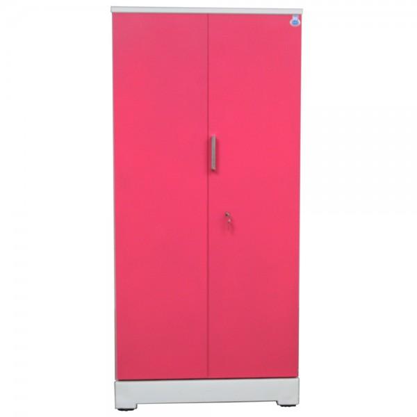 """Swarna 2 Door Steel Cupboard 36"""" Pink"""