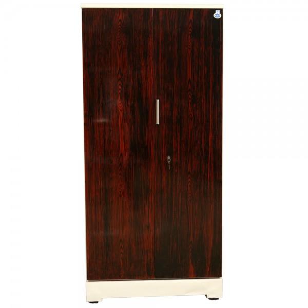 """Swarna 2 Door Steel Cupboard 36"""" Rosewood"""