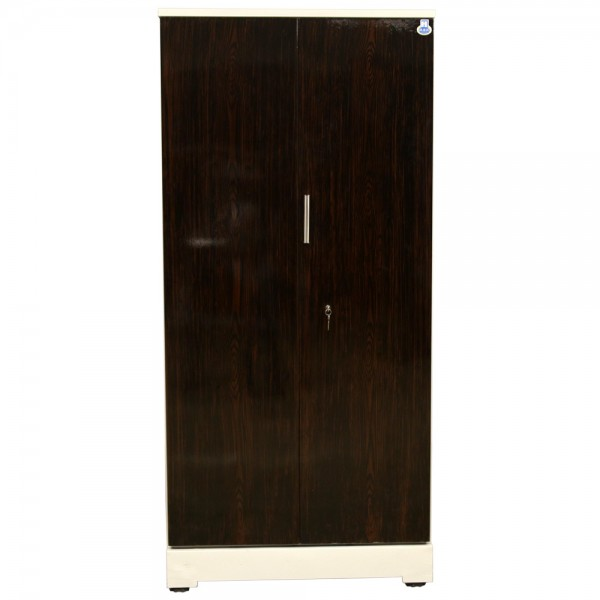 """Swarna 2 Door Steel Cupboard 36"""" Walnut"""