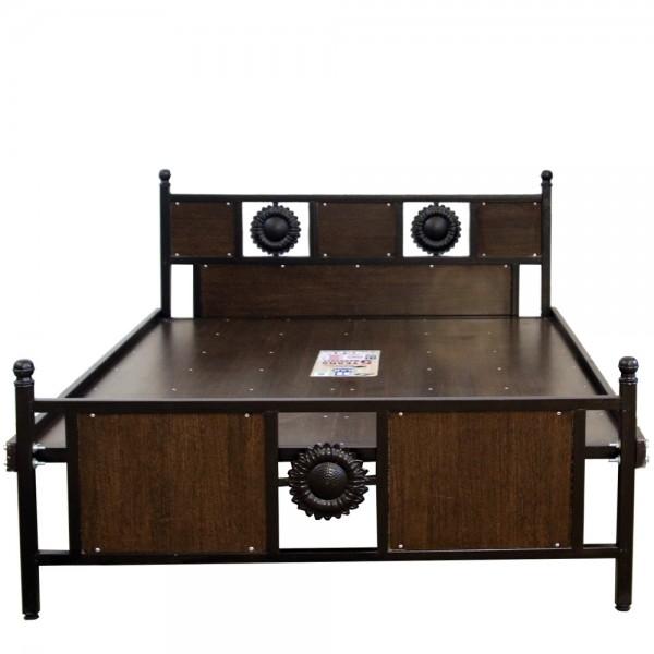 Queen Size Luxury Wood Cot 5ft Walnut
