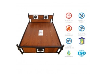 Rosewood Wooden Cot Queen size at best price