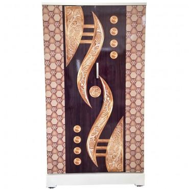 Akshaya Digital Cupboard - Golden Horn and Walnut Pentagon Wooden Style Finish