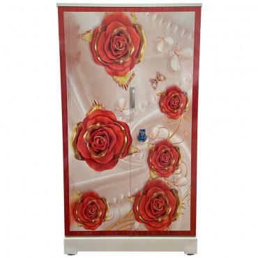 Akshaya Digital Cupboard - Golden Red Roses