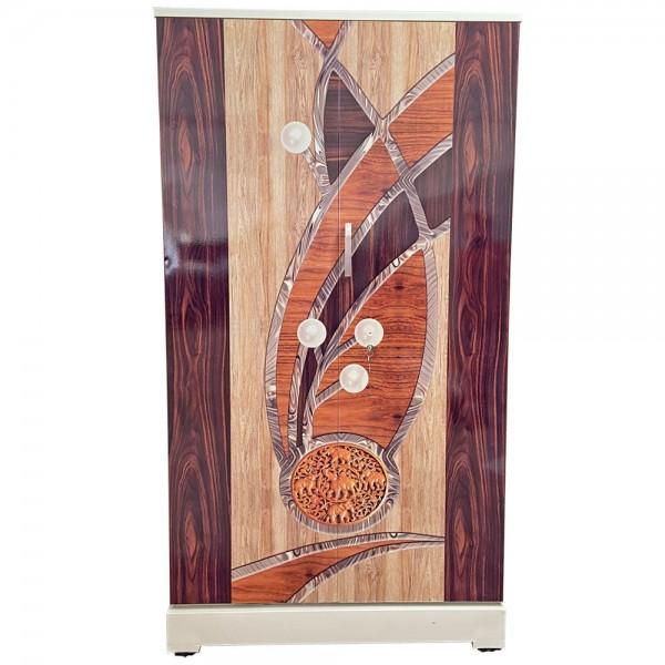 Akshaya Digital Cupboard - Luxury Walnut Wooden with Pearls and Elephant