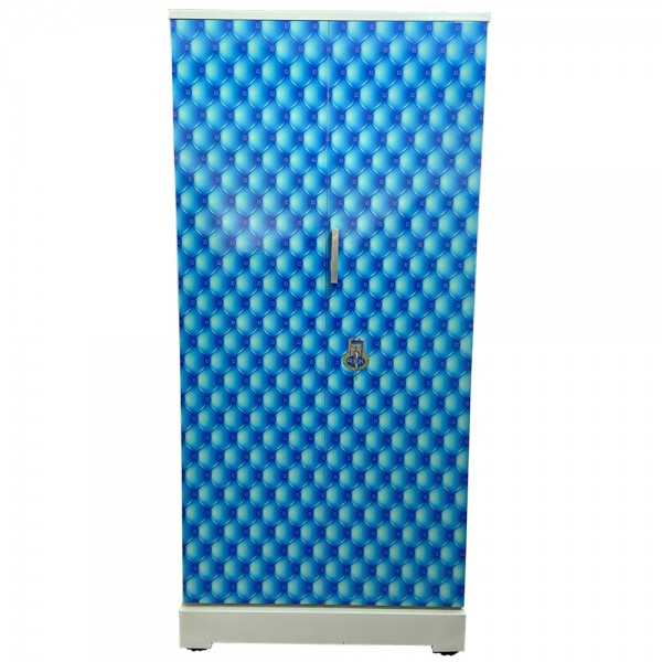Swarna Digital Steel Almari - Blue bubbles and diamonds pattern