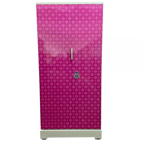 Swarna Digital Steel Cupboard - Pink diamond stone