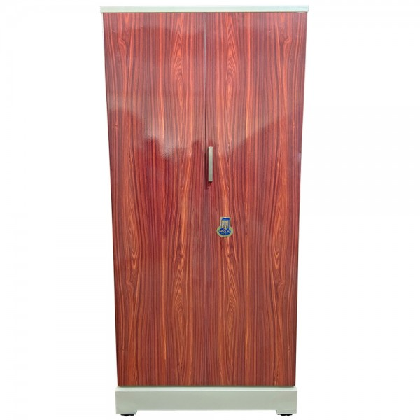 Swarna Digital Steel Almari - Luxury Redwood Grains