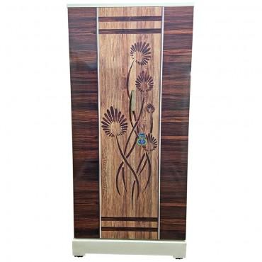 Swarna Digital Steel Almirah - Walnut wooden flowers rich look and style