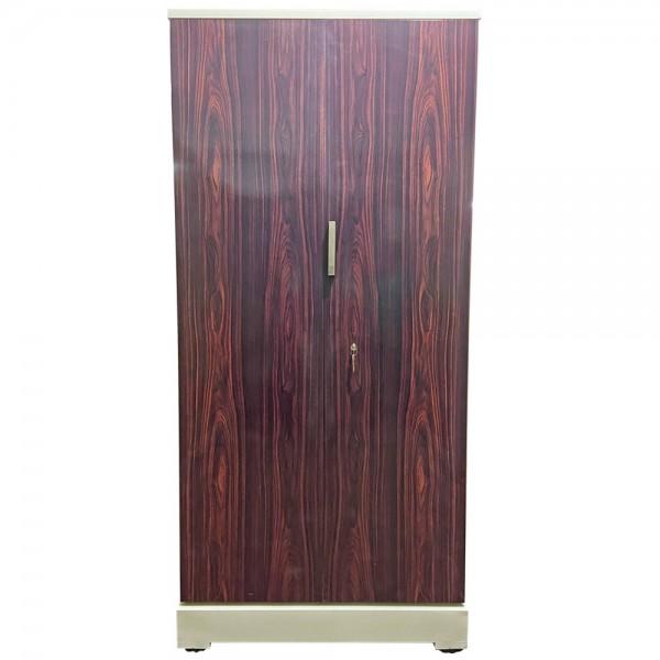 Swarna Digital Steel Almirah - Luxury Rosewood Grains