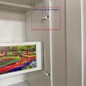 Vajra 3 Door Digital Wardrobe - Teakwood and Metal Flowers