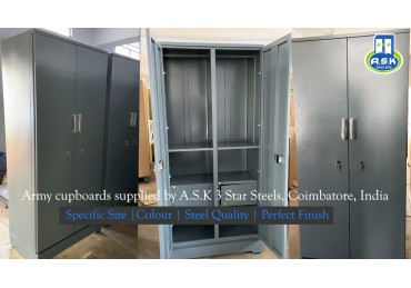 Cupboards to School of our Indian Navy in Cochin, supplied by ASK 3 Star Steels