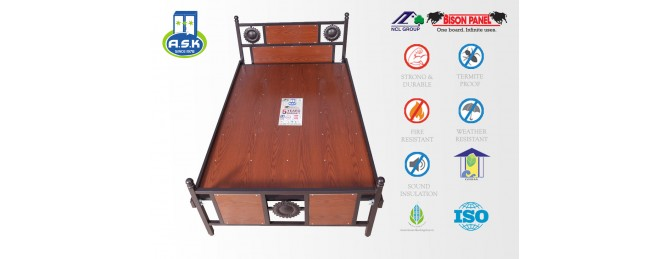 BISON LAM – Laminated Wood Particle Board for A.S.K 3 Star Steel's Luxury Cot