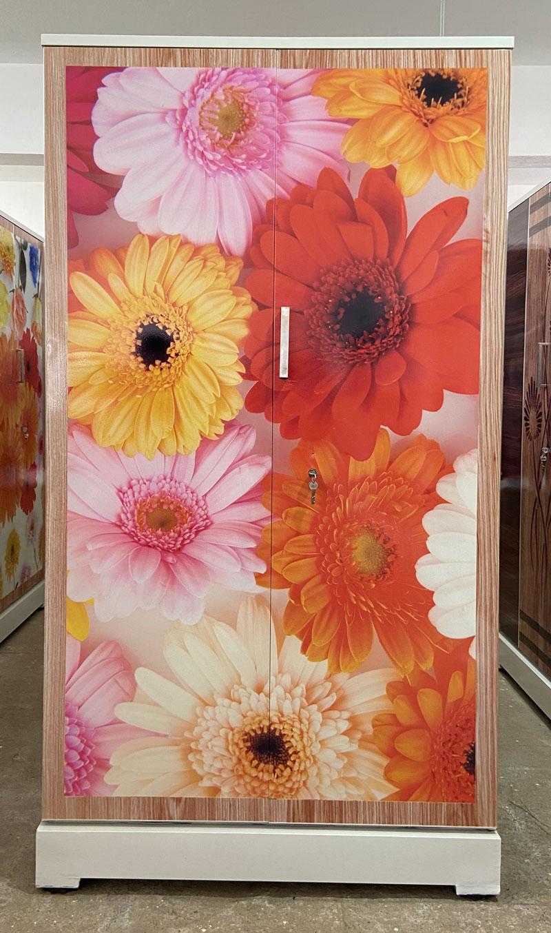 digital uv printed steel bero cupboard daisy flowers