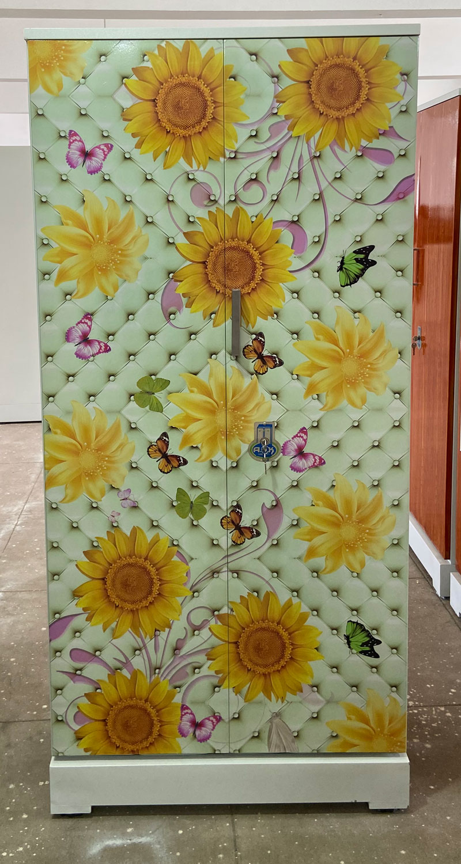 digital uv printed steel bero cupboard luxury butterflies sunflower