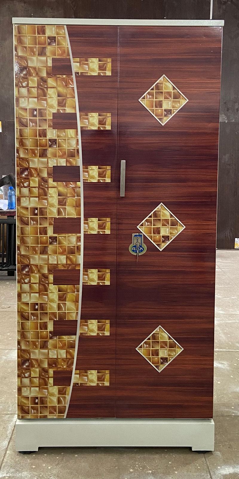 digital uv printed steel bero cupboard redwood honeycomb
