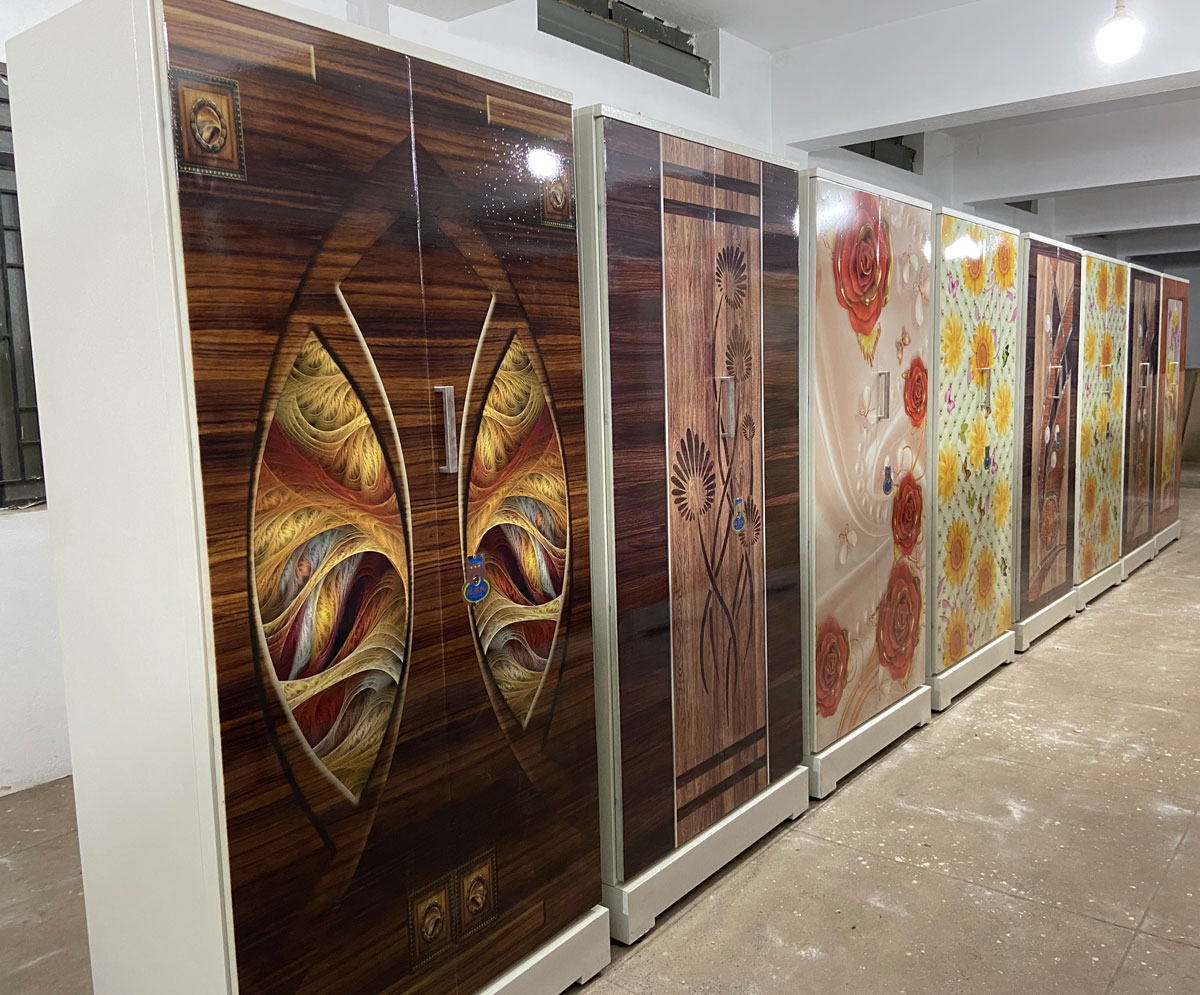 digital uv printed steel bero cupboard swarna 3ft width