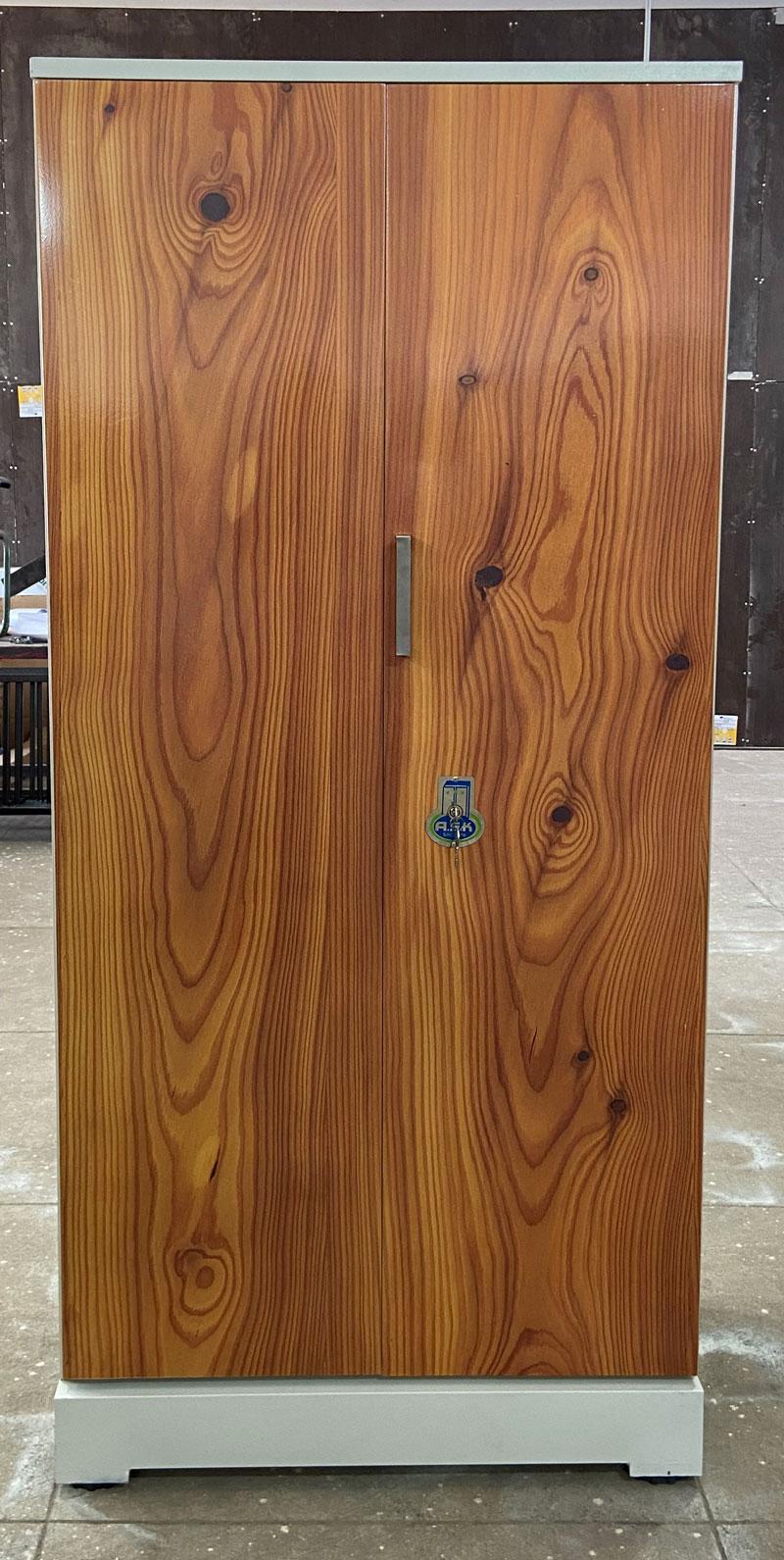 digital uv printed steel bero cupboard teakwood grains
