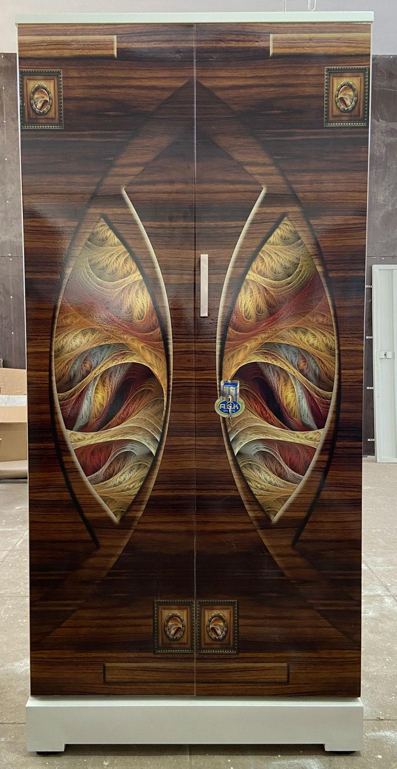 digital uv printed steel bero cupboard wooden art